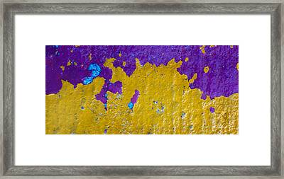 Yellow Wave Framed Print