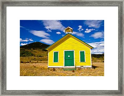 Yellow Western School House Framed Print by James BO  Insogna