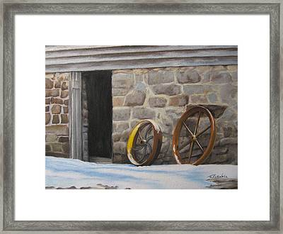 Yellow Whell Framed Print by James Clewell