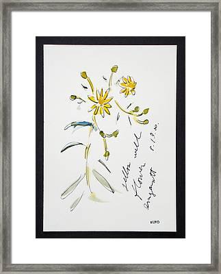 Yellow Wildflower Amagansett Framed Print by David Rufo