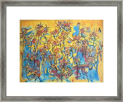 Yellows Singing The Blues Framed Print