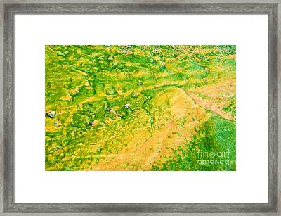 Yellowstone Abstract 1 Framed Print by Bob and Nancy Kendrick