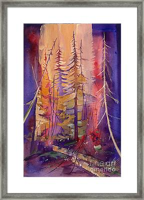 Yellowstone Fire Framed Print