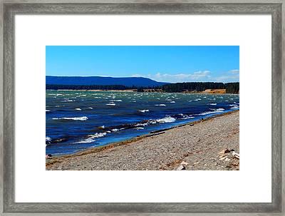 Yellowstone Lake Framed Print by Daniel Dodd