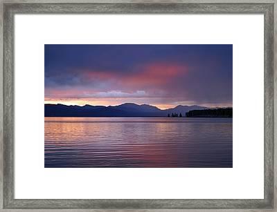 Yellowstone Lake Sunrise IIi Framed Print