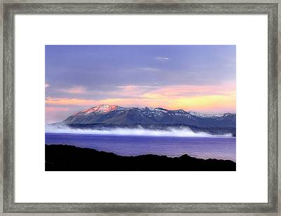 Yellowstone Lake Sunrise Framed Print by Tony Gayhart
