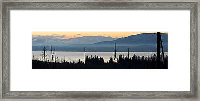 Yellowstone Lake Sunrise Framed Print