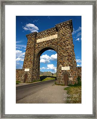 Yellowstone National Park Gate Framed Print by Gregory Dyer