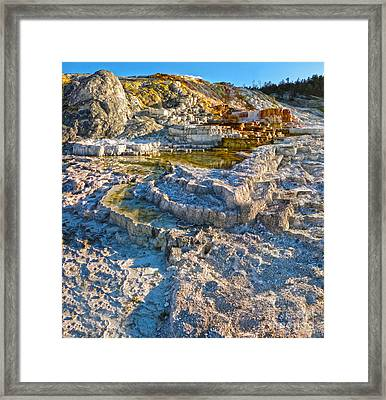 Yellowstone National Park - Mammoth Hot Springs - 02 Framed Print by Gregory Dyer