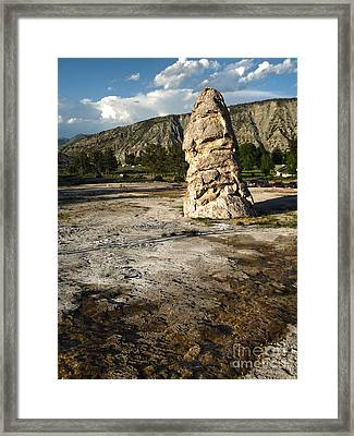 Yellowstone National Park - Mammoth Hot Springs Framed Print by Gregory Dyer