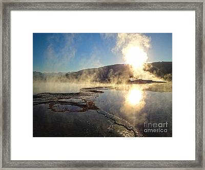 Yellowstone National Park - Minerva Terrace - 02 Framed Print by Gregory Dyer