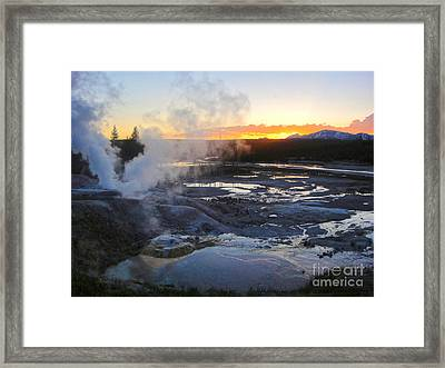 Yellowstone Norris Geyser Basin At Sunset - 03 Framed Print by Gregory Dyer