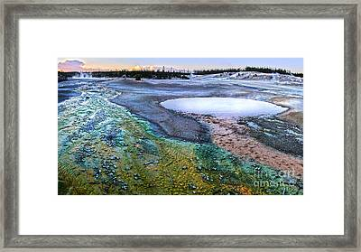 Yellowstone Norris Geyser Basin At Sunset - 04 Framed Print by Gregory Dyer