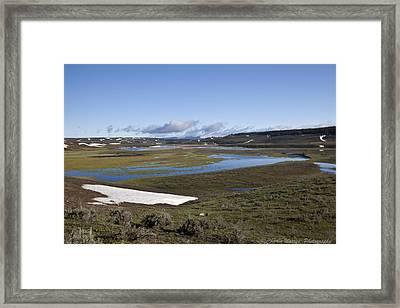Yellowstone Plateau Framed Print by Charles Warren