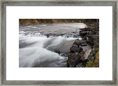 Yellowstone River Rapids Framed Print by Twenty Two North Photography