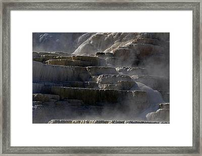 Framed Print featuring the photograph Yellowstone Texture by J L Woody Wooden