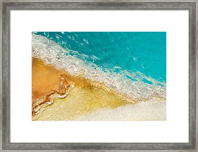 Framed Print featuring the photograph Yellowstone Thermal Pool 1 by Peg Toliver