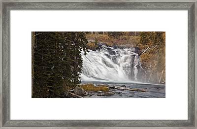 Yellowstone Waterfall Panorama Framed Print by Andrew Soundarajan