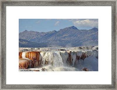 Yellowstone's Canary Springs 002 Framed Print
