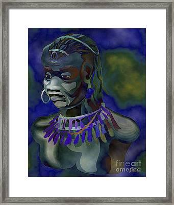 Yemaya  Framed Print by Liz Loz