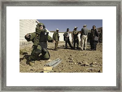 Yemen Explosive Ordnance Disposal Team Framed Print by Stocktrek Images