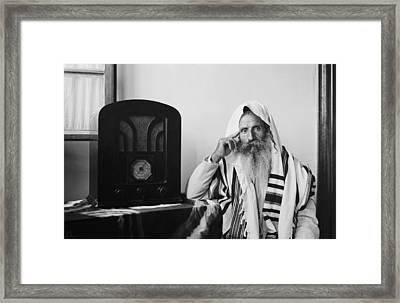 Yemenite Rabbi, In Traditional Robes Framed Print by Everett