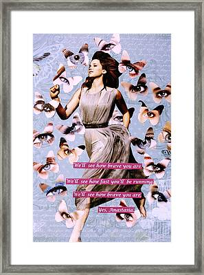 Yes Anastasia Framed Print by Jessi  Williams