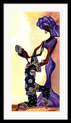 African Wedding Attire Framed Prints
