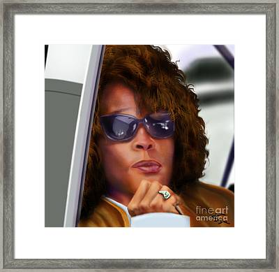 Yes My Name Is Ms Houston Framed Print by Reggie Duffie
