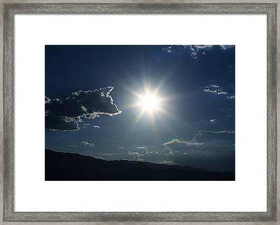 Yes That Is The Sun Framed Print