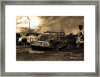 Yesterday Came Early . Tomorrow Is Almost Over 2 . Sepia Framed Print by Wingsdomain Art and Photography