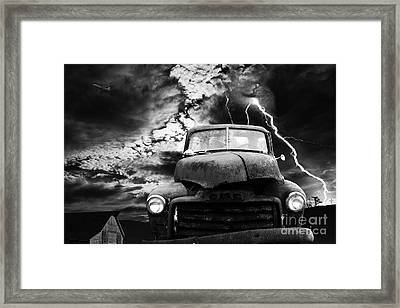 Yesterday Came Early . Tomorrow Is Almost Over . Bw Framed Print by Wingsdomain Art and Photography