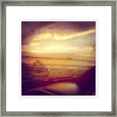 Yesterdays Sunset Framed Print
