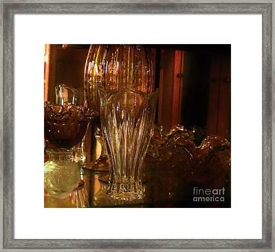 Yesturdays Glass Collection Framed Print by Marsha Heiken