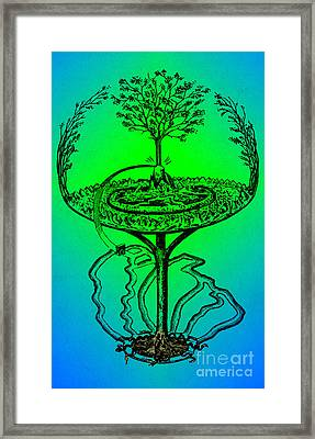 Yggdrasil From Norse Mythology Framed Print by Photo Researchers