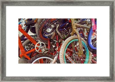 Yikes Bikes Framed Print