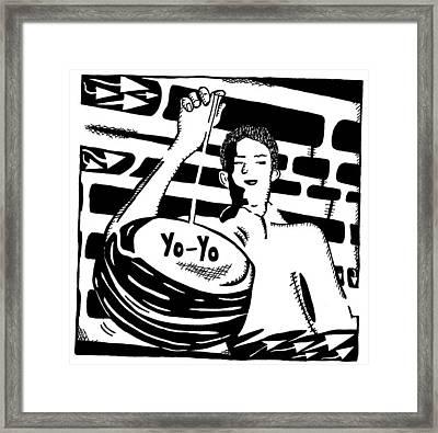 Yo Yo Maze Framed Print by Yonatan Frimer Maze Artist