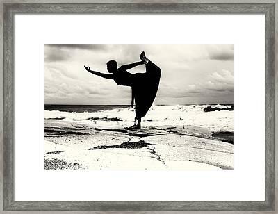 Yoga Balance Framed Print by Stelios Kleanthous