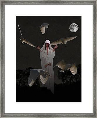 Yoga Guru Framed Print by Eric Kempson