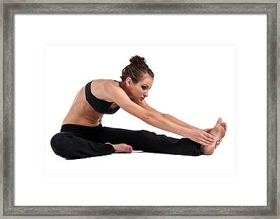 Yoga Head To Knee Framed Print by Jim Boardman