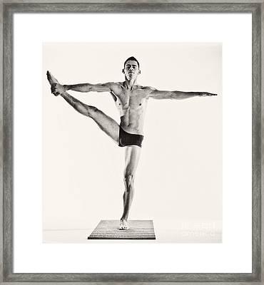 Yoga Iv Framed Print by Angelique Olin