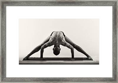 Yoga Ix Framed Print by Angelique Olin