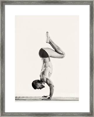 Yoga Vi Framed Print by Angelique Olin