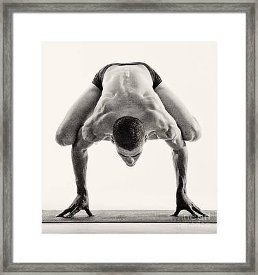 Yoga Viii Framed Print by Angelique Olin