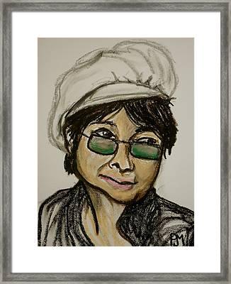 Yoko Framed Print by Pete Maier