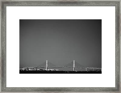 Yokohama Bay Bridge Framed Print by Kiyoshi Noguchi