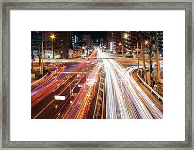 Yokohama Stream Framed Print by Spiraldelight