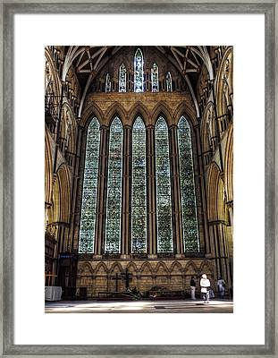 York Minster04 Framed Print by Svetlana Sewell
