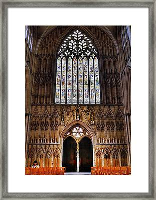 York Minster05 Framed Print by Svetlana Sewell