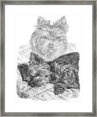 Yorkie - Yorkshire Terrier Dog Print Framed Print